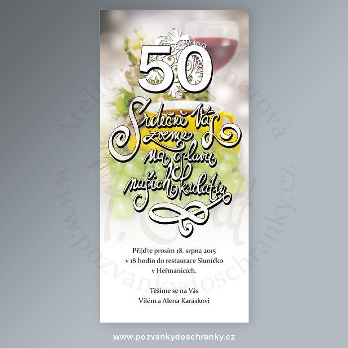 pozvánka na narozeniny 50 let PozvánkoBLOG 2013 pozvánka na narozeniny 50 let
